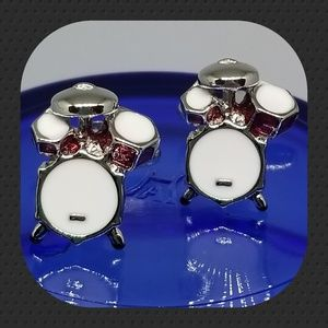 Other - Drum Set Enamaled Cuff Links